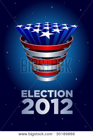 American Stars bunch Election 2012. Elements are layered separately in vector file.