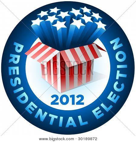 Insignia de la elección presidencial. Cuadro de estrella americano explosión. Todos los elementos son capas en el archivo de vector.