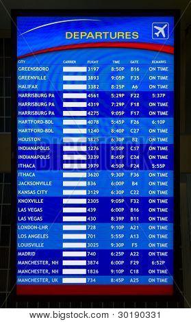 Airport arrival/departure board