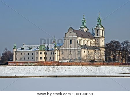 Skalka Sanctuary In Winter, Krakow, Poland