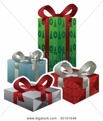 Vector Christmas Gifts