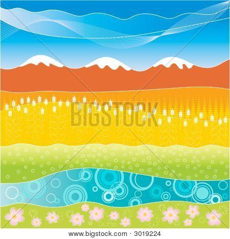 Colorful Striped Landscape