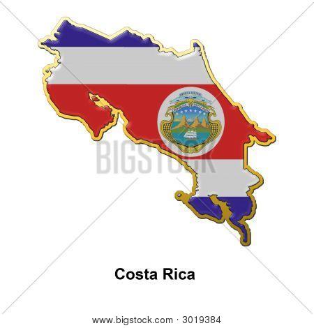 Costa Rica Metal Pin Badge