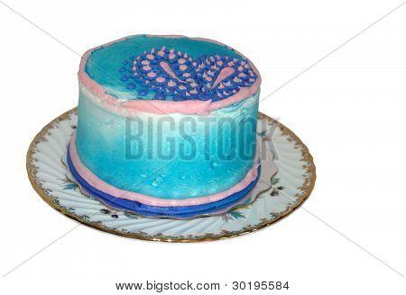 paisley decorated cake