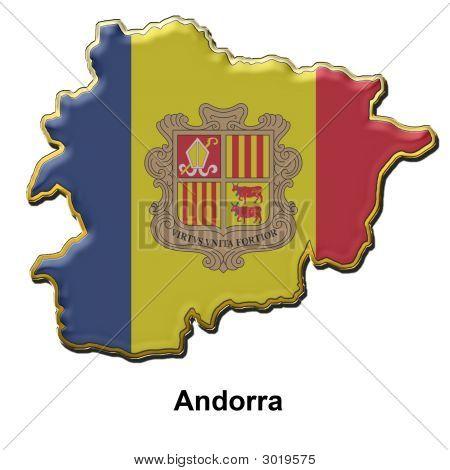 Andorra Metal Pin Badge