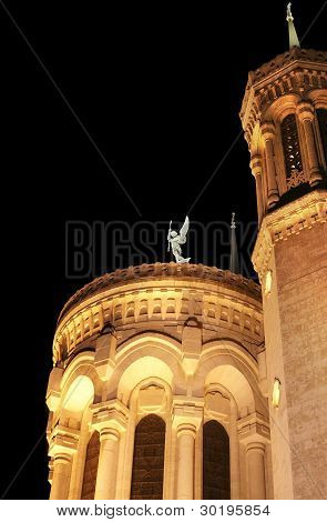 Basilica And Angel At Night