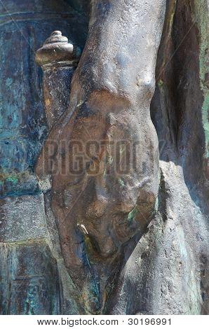 Emperor Constantine bronze statue.