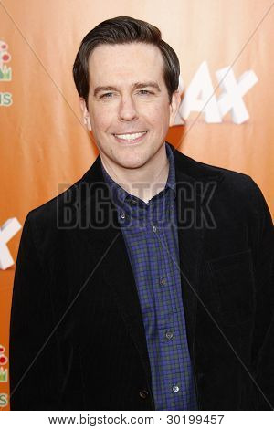 LOS ANGELES, CA - FEB 19: Ed Helms at the 'Dr. Suess' The Lorax' premiere at Universal Studios Hollywood on February 19, 2012 in Los Angeles, California