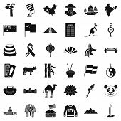 Europe Icons Set. Simple Style Of 36 Europe Icons For Web Isolated On White Background poster