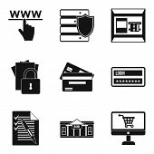 Information Isolation Icons Set. Simple Set Of 9 Information Isolation Icons For Web Isolated On Whi poster