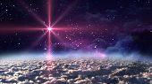stock photo of 24th  - The star glow in the space night - JPG