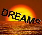 Постер, плакат: Мечты слово тонущий Показываю сломанной или недостижимые мечты
