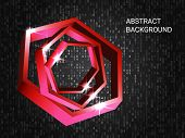 Geometric Polygons Sparkle On The Background. 3d Vector Illustration . Modern Geometric Background.  poster