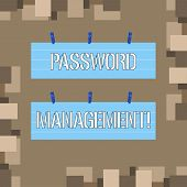 Conceptual Hand Writing Showing Password Management. Business Photo Text Software Used To Help Users poster