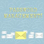 Writing Note Showing Password Management. Business Photo Showcasing Software Used To Help Users Bett poster