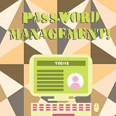 Word Writing Text Password Management. Business Concept For Software Used To Help Users Better Analy poster