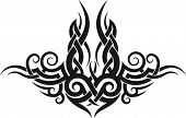 stock photo of maori  - Maori tribal tattoo pattern fit for upper or lower back - JPG