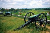 stock photo of rebs  - Napoleon artillery battery Antietam National Battlefield American Civil War Maryland - JPG