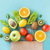 Shopping Healthy Food poster