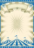 picture of tent  - Circus blue vintage - JPG