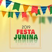 Awesome Festa Junina Celebration Background Vector Illustration poster