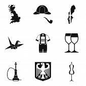British Land Icons Set. Simple Set Of 9 British Land Icons For Web Isolated On White Background poster