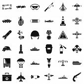 Army Depot Icons Set. Simple Set Of 36 Army Depot Icons For Web Isolated On White Background poster