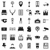 Home Environment Icons Set. Simple Set Of 36 Home Environment Icons For Web Isolated On White Backgr poster