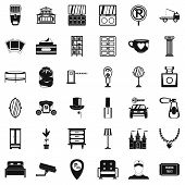 Homelike Atmosphere Icons Set. Simple Set Of 36 Homelike Atmosphere Icons For Web Isolated On White  poster