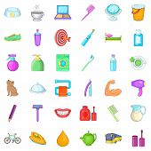 Glimmer Icons Set. Cartoon Set Of 36 Glimmer Icons For Web Isolated On White Background poster