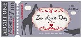 A Symbolic Ticket To The Zoo For The Day - Zoo Lovers Day. Welcome To The Zoo. Free All Day poster
