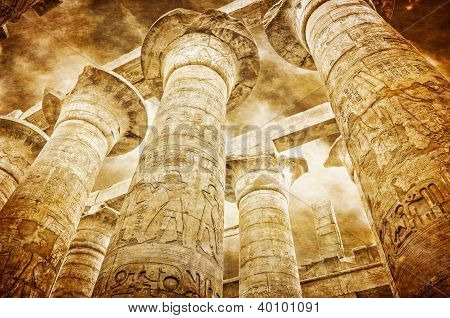 Great Hypostyle Hall At The Temples Of Karnak