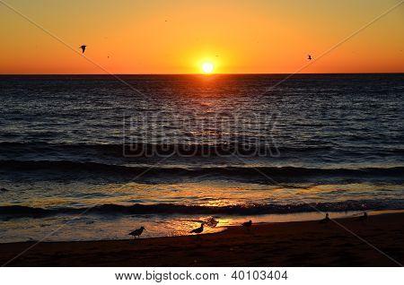 Sunset At Malibu Beach