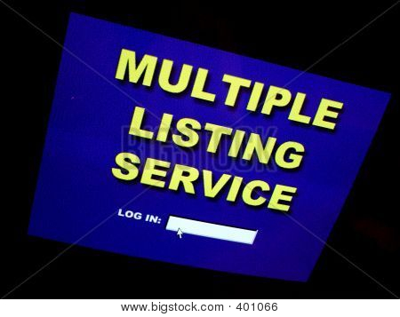 Real Estate Multiple Listing Service Computer Screen