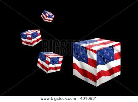 Arte de la bandera americana