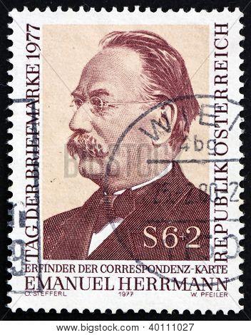 Postage Stamp Austria 1977 Emanuel Herrmann, Economist