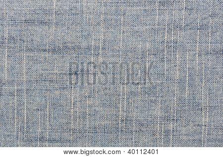 Blue Linen Close Up Texture Background