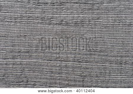 Close Up Gray Striped Linen Background