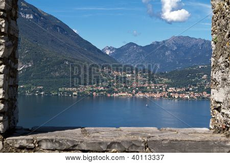 The small town of Menaggio on lake Como in Italy