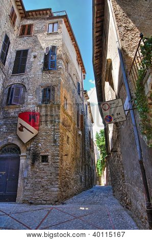 Alleyway. Narni. Umbria. Italy.