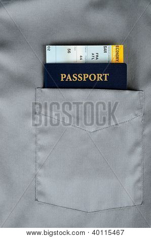Pasport And Boarding Pass
