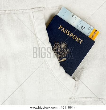 Passport Of Usa And Boarding Pass