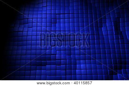 blue background 3d leather cubes texture