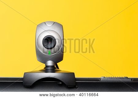 Internet Camera On Laptop Computer