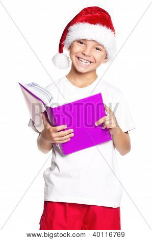 Boy in Santa hat