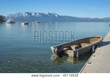 Mountain Lake Boat