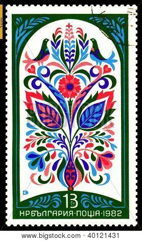 Vintage  Postage Stamp.  Ornament. 2.