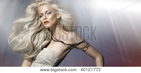 Portrait of a cute blondie