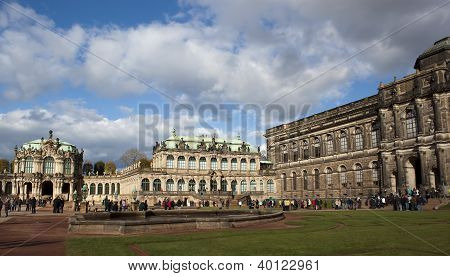 The Zwinger Palace And Building Of The Old Masters Picture Gallery