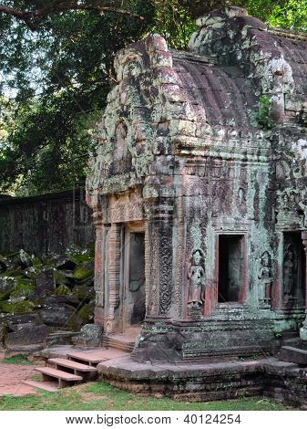 Entrance to one of the temples of Angkor Wat